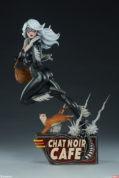 Preorder Sideshow Marvel Black Cat by Mark Brooks Statue